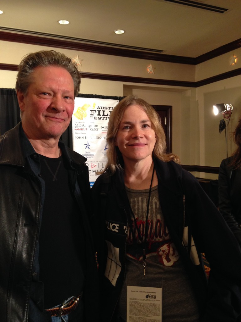 Me and Chris Cooper, the next day! :)