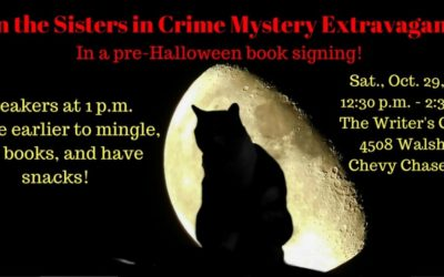 Tomorrow is the Sisters in Crime Book Signing!